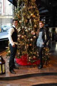 El Mister y la Miss en nuestro árbol de Navidad